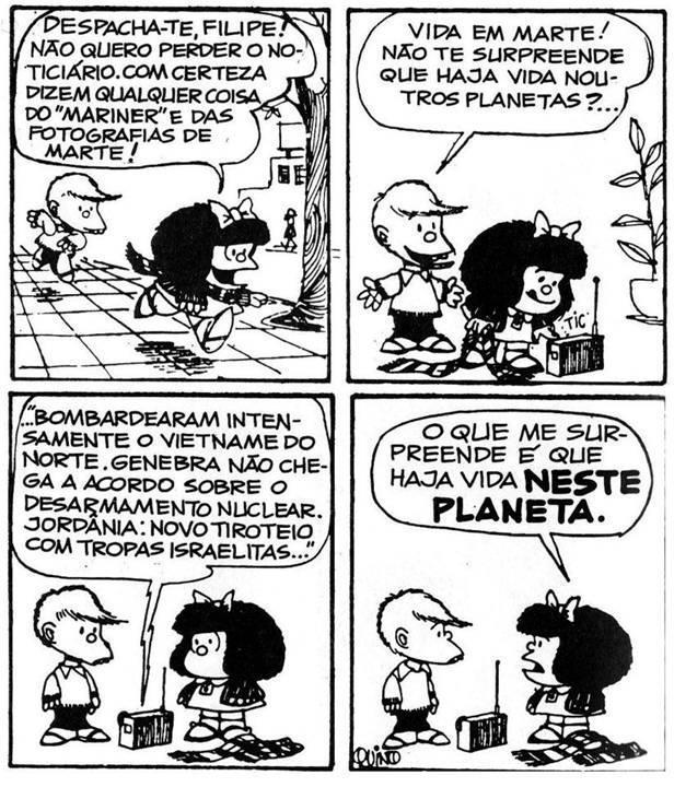 Primeira publicação de Mafalda